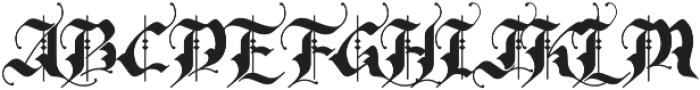 Rhapsody Black Letter otf (900) Font UPPERCASE