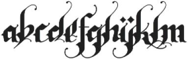 Rhapsody Black Letter otf (900) Font LOWERCASE