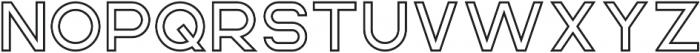 Rhino OutlineBold otf (700) Font LOWERCASE