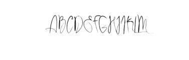 Rhinchost.ttf Font UPPERCASE