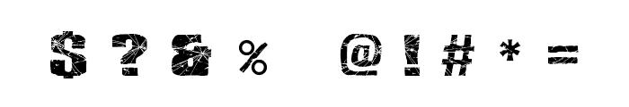 RH SHMATTER SOLID SMASH Font OTHER CHARS