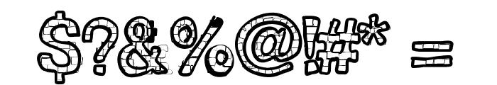 RHBrickhausProto-SAURUS Font OTHER CHARS