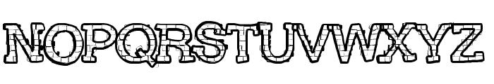 RHBrickhausProto-SAURUS Font UPPERCASE