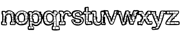 RHBrickhausProto-SAURUS Font LOWERCASE