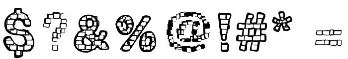 RHBrickhausProto-VERTEBRA Font OTHER CHARS