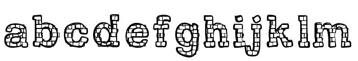 RHBrickhausProto-VERTEBRA Font LOWERCASE