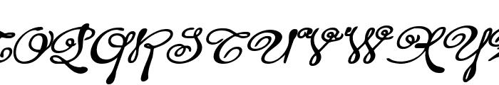 Rhalina Bold Expanded Italic Font UPPERCASE