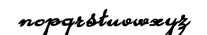 Rhalina Bold Expanded Italic Font LOWERCASE