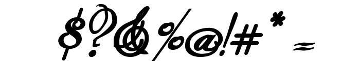 Rhalina Bold Italic Font OTHER CHARS