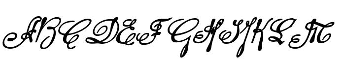 Rhalina Bold Italic Font UPPERCASE