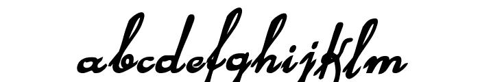 Rhalina Bold Italic Font LOWERCASE