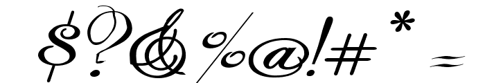 Rhalina Expanded Italic Font OTHER CHARS