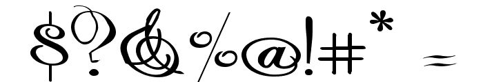 Rhalina Expanded Font OTHER CHARS