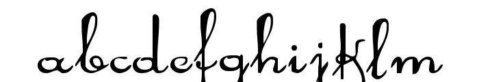 Rhalina Expanded Font LOWERCASE
