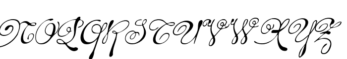 Rhalina Italic Font UPPERCASE
