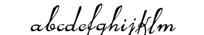 Rhalina Italic Font LOWERCASE