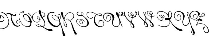 Rhalina Leftalic Font UPPERCASE