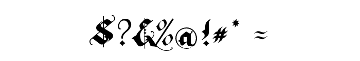 RhapsodyBlackLetter Font OTHER CHARS