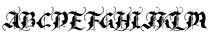 RhapsodyBlackLetter Font UPPERCASE