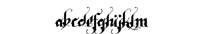 RhapsodyBlackLetter Font LOWERCASE