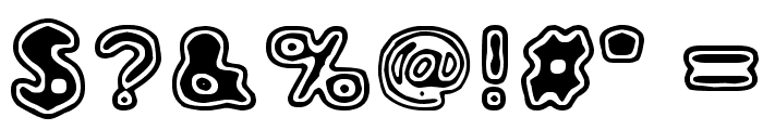 Rho Cassiopeiae Font OTHER CHARS