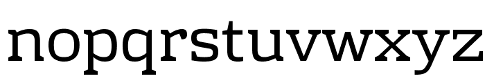 Rhodium Libre Font LOWERCASE