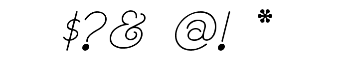RhumbaScript Font OTHER CHARS