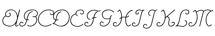 RhumbaScript Font UPPERCASE