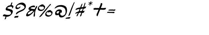 Rhodamine Blue Regular Font OTHER CHARS
