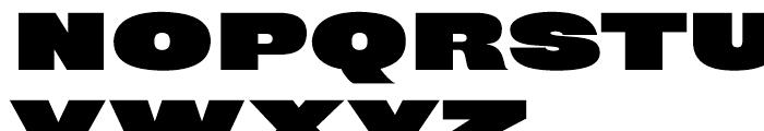 Rhode Black Extended Font UPPERCASE