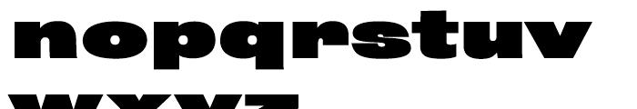 Rhode Black Extended Font LOWERCASE