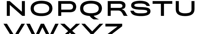 Rhode Medium Extended Font UPPERCASE