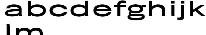 Rhode Medium Extended Font LOWERCASE