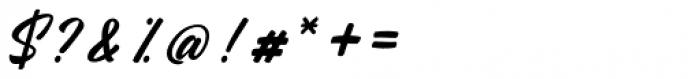 Rhapson Script Regular Font OTHER CHARS