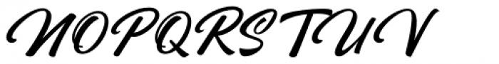 Rhapson Script Regular Font UPPERCASE