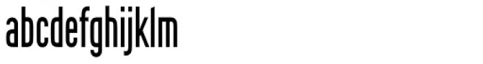 Rhomus Condensed Font LOWERCASE