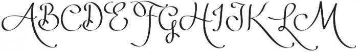 Ribbon of Romance otf (400) Font UPPERCASE