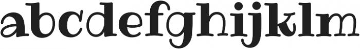 Ribeye Pro Regular otf (400) Font LOWERCASE