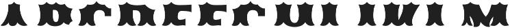 Ribfest Fill T Regular otf (400) Font UPPERCASE