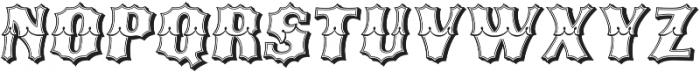 Ribfest Open L Regular Italic otf (400) Font UPPERCASE