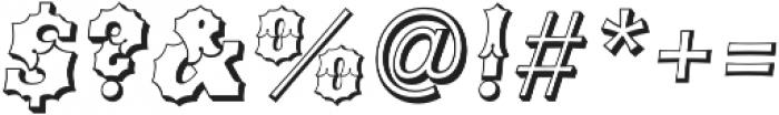 Ribfest Open Regular Italic otf (400) Font OTHER CHARS