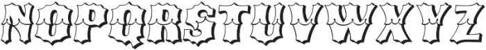 Ribfest Open Regular Italic otf (400) Font UPPERCASE