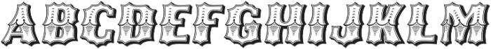 Ribfest Regular Italic otf (400) Font UPPERCASE