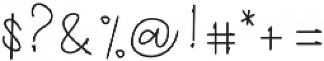 Richie Youthfield Alt otf (400) Font OTHER CHARS