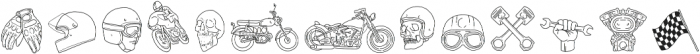 Ride Slow Illustration otf (400) Font LOWERCASE