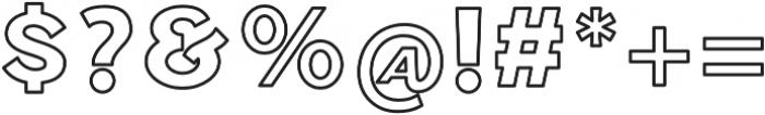 Ride Slow Short Outline otf (400) Font OTHER CHARS