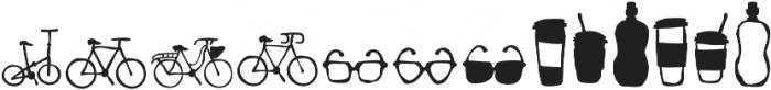 RidemyBike Dingbat Regular otf (400) Font UPPERCASE
