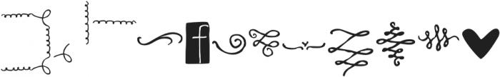RidemyBike Dingbat Regular otf (400) Font LOWERCASE