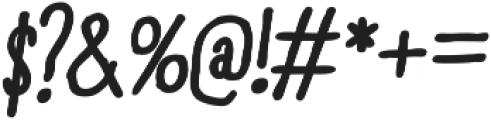 RidemyBike Essential Bold Italic otf (700) Font OTHER CHARS