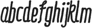 RidemyBike Essential Bold Italic otf (700) Font LOWERCASE